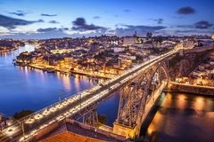 Porto, Portugal at Dom Luis Bridge Stock Image