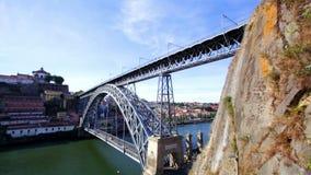 Porto,Portugal.The Dom Luis I (or Luiz I) Bridge stock footage