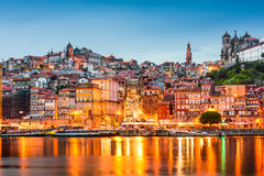 Porto Portugal on the Douro River Royalty Free Stock Photos