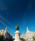 Porto Portugal: droppstaty för konung Dom Pedro i den Aliados avenyn arkivfoto