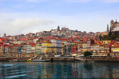 Porto, Portugal from Duoro river Royalty Free Stock Photo