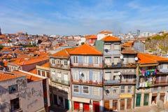 Porto, Portugal. Fishing quarter Ribeira in the city of Porto, Portugal stock photo