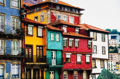 Porto, Portugal. Houses of Ribeira Square located in the historical center Royalty Free Stock Photography