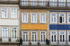 Porto, Portugal - July, 2017. Houses of Ribeira Square located in the historical center of Porto, Portugal along the river Duoro. royalty free stock photos