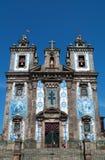 Porto, Portugal, Iberian Peninsula, Europe, azulejos, church. Porto, 27/03/2012: view of the Church of Saint Ildefonso, a 18th century church near Batalha Square Stock Images