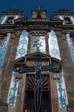 Porto, Portugal, Iberian Peninsula, Europe, azulejos, church. Porto, 27/03/2012: view of the Church of Saint Ildefonso, a 18th century church near Batalha Square Royalty Free Stock Photography