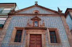 Vila Nova de Gaia, church, azulejos, Porto, Portugal, Iberian Peninsula, Europe. Vila Nova de Gaia, Portugal, 26/03/2012: view of the Chapel of Our Lady of Mercy Stock Images
