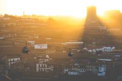 PORTO, PORTUGAL - 18. JANUAR 2018: Teleferico de Gaia in Vila Nova de Gaia, Portugal Stockfoto