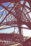 PORTO, PORTUGAL - JANUARI 18, 2018: Mening van de historische stad van Porto, Portugal met de Dom Luiz-brug Stock Fotografie