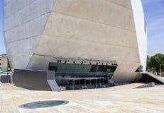 PORTO, PORTUGAL - 5 JUILLET 2015 : Vue de lieu de rendez-vous de point de repère du DA Musica de maison Photos stock