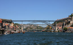 Porto, Portugal - juli 10 2010: brug Royalty-vrije Stock Afbeeldingen