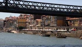 Porto, Portugal - juli 10 2010: brug Royalty-vrije Stock Foto
