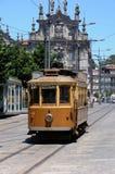 Porto, Portugal - juli 10 2010: een tramspoor Royalty-vrije Stock Afbeeldingen