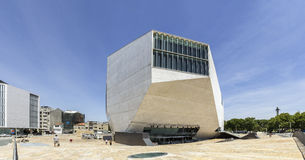 PORTO PORTUGAL - JULI 05, 2015: Sikt av casaen da Musica Royaltyfria Bilder