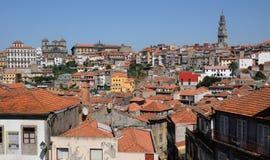Porto, Portugal - juli 10 2010: stadscentrum Stock Fotografie