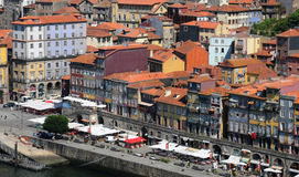 Porto, Portugal - juli 10 2010: stadscentrum Royalty-vrije Stock Foto