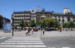 Porto, Portugal - juli 10 2010: stadscentrum Royalty-vrije Stock Afbeelding