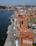 Porto, Portugal - juli 10 2010: stadscentrum Stock Afbeeldingen
