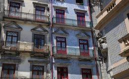 Porto, Portugal - juli 10 2010: stadscentrum Royalty-vrije Stock Fotografie
