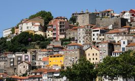 Porto, Portugal - juli 10 2010: stadscentrum Stock Afbeelding