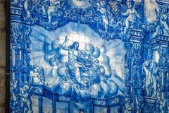 PORTO PORTUGAL - JULI 28,2016: Traditionell portugisisk tilework Royaltyfri Fotografi