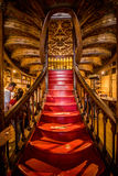 Porto, Portugal - 08 July 2017. High angle view of stairs in the bookstore Livraria Lello Royalty Free Stock Images