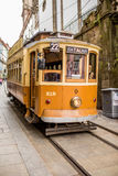 Porto, Portugal - 08 July 2017. Historical city street tram in day light Porto, Portugal Royalty Free Stock Photos