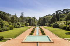 PORTO, PORTUGAL - JULY 05, 2015: Serralves gardens, a green park in Porto Stock Image