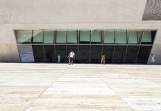 PORTO, PORTUGAL - JULY 05, 2015: View of Casa da Musica landmark venue Stock Photos