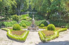 Fountain in the Cristal Palace Gardens. Porto, Portugal stock images