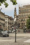 Porto, Portugal, June 15, 2018: View of a street in the Portugue stock photography