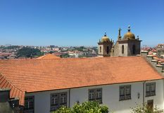 Porto Portugal Kathedraalmening S stock foto's