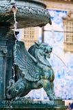 Porto, Portugal Fountain of the Lions stock photos