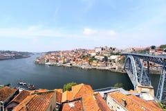 Porto, Portugal Landschap van het historische centrum Stock Foto's