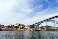 Porto, Portugal Landschap van het historische centrum Royalty-vrije Stock Foto's