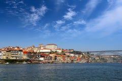 Porto, Portugal Landschap van het historische centrum Royalty-vrije Stock Foto