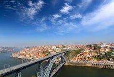 porto portugal Landskap av den historiska mitten Royaltyfri Bild