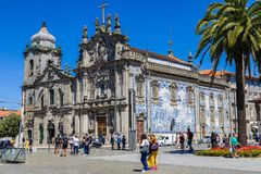 Porto, Portugal - Mei 29, 2019: Kerk van Onze Dame van Carmo, Porto royalty-vrije stock foto's