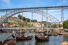 Porto, Portugal -21 Mei 2015: Porto, oude de stadscityscape van Portugal Stock Foto