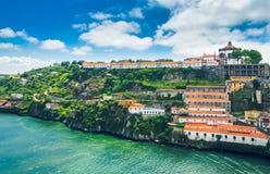 Porto, Portugal: Monastery of Serra do Pilar and wine cellars in Vila Nova de Gaia stock photo