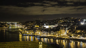 Porto in Portugal by night. Porto the second-largest city in Portugal by night Stock Photos