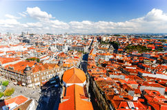 PORTO,PORTUGAL - OCTOBER 20,2012 : Aerial from Clerigos tower (T Stock Image