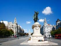 PORTO, PORTUGAL - OKTOBER 20.2012: Monument van Koning Peter IV  Stock Afbeeldingen