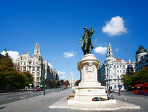 PORTO, PORTUGAL - OKTOBER 20,2012: Monument von König Peter IV an Stockbilder