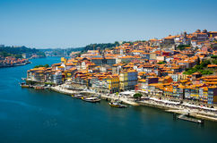 Porto, Portugal old town skyline Stock Photography