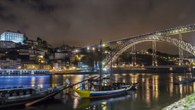 Porto, Portugal old town skyline on the Douro stock footage