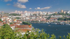 Porto, Portugal old town skyline on the Douro stock video footage