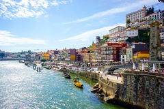 Porto, Portugal old town skyline Royalty Free Stock Photos