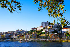 Porto, Portugal old town view from across the Douro River Royalty Free Stock Photography