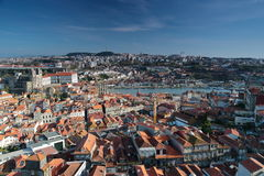 View from the tower of the city Porto Portugal royalty free stock images